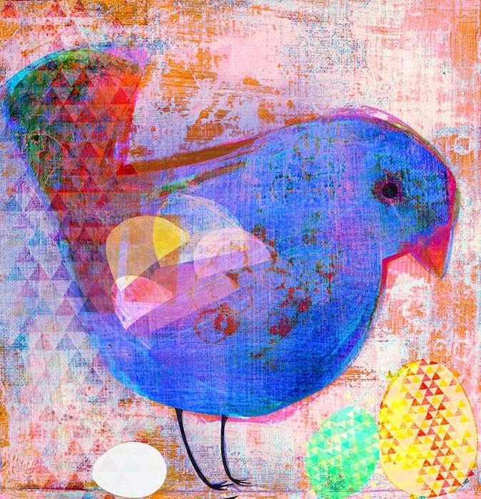 Blauer Vogel 3