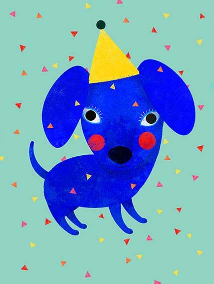 Fauna blauer Hund