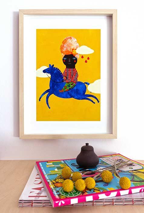 Blaues Pferd 1