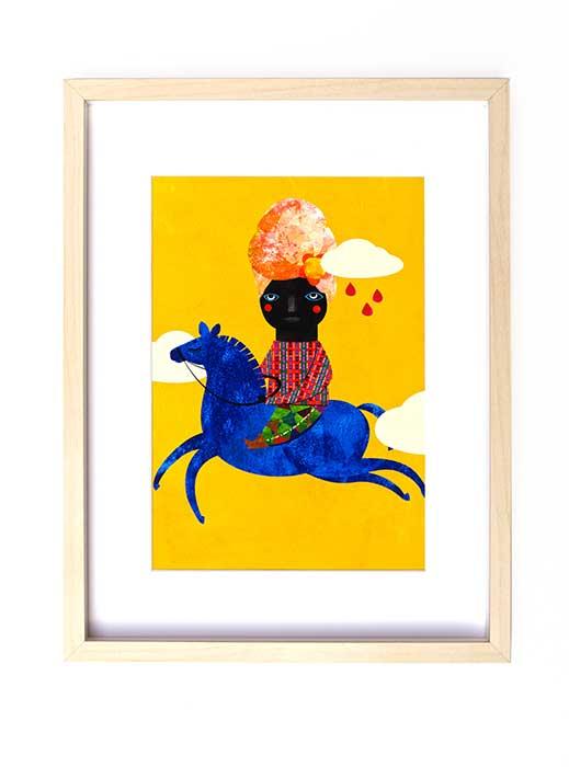 Blaues Pferd 2