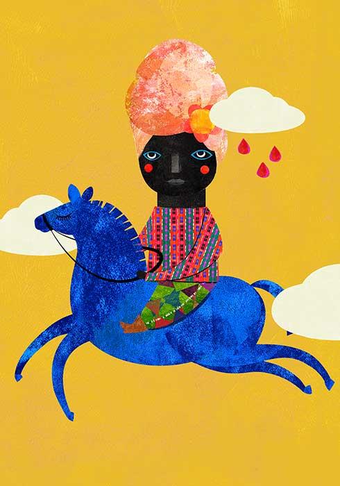 Blaues Pferd 3