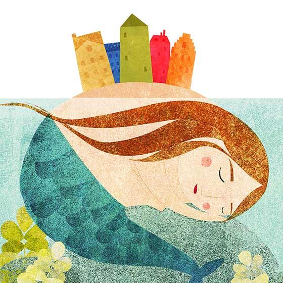 Surealle Welt Meerjungfrau