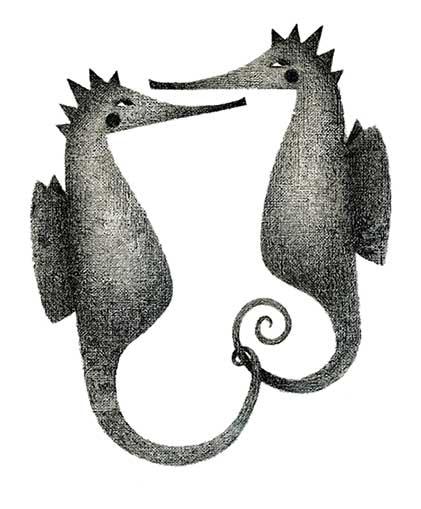 Zeichnungen Seepferdchen
