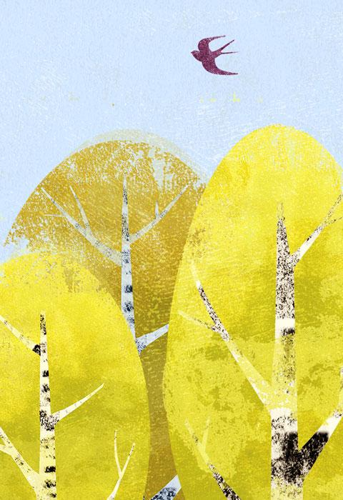 Birkenwald - Limitierte Edition Kunstdruck