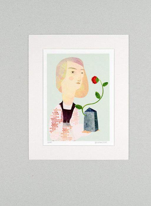 Blühendes Haus - Limitierte Edition Kunstdruck