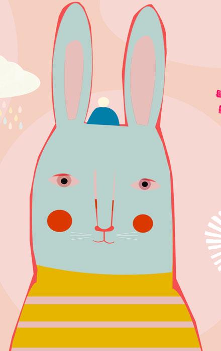 Blauer Hase - Limitierte Edition Kunstdruck