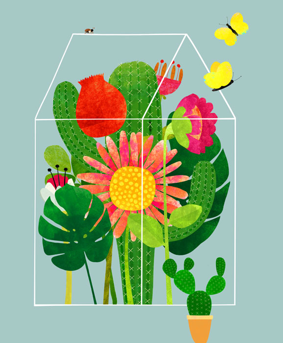 Glashaus - Limitierte Edition Kunstdruck