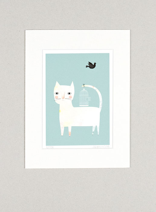 Katzenkäfig - Limitierte Edition Kunstdruck