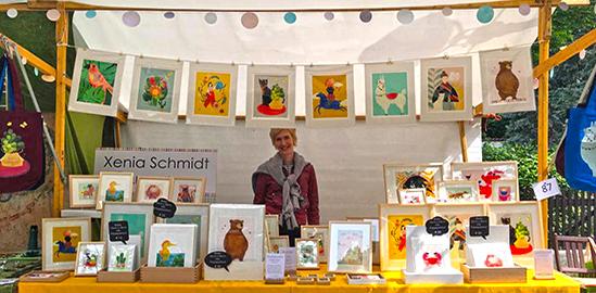Kunst trifft Handwerk Markt auf dem Mexikoplatz