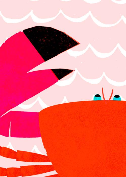 Rote Krabbe - Limitierte Edition Kunstdruck
