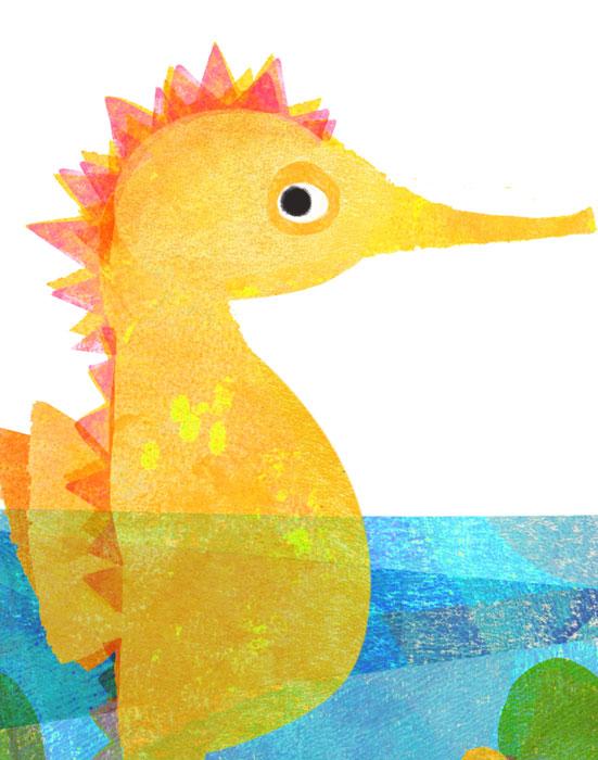 Seepferdchen - Limitierte Edition Kunstdruck